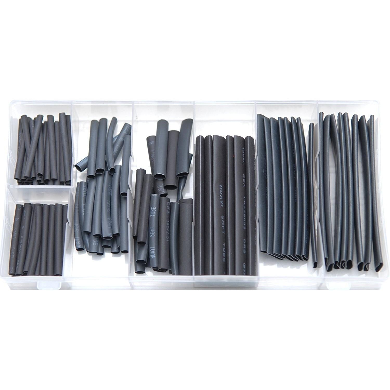 Rolson 61299 127pc Heat Shrink Wire Wrap Assortment Wiring