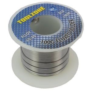 Toolzone 100g Fluxed Solder