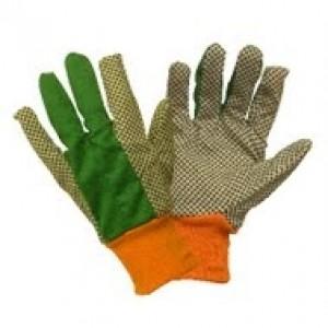 Green Jem Mens Polka Dot Gloves