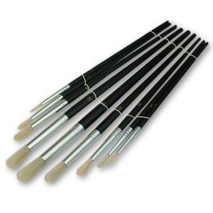 Toolzone 9pc Round Artist Brushes