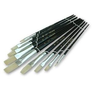 Toolzone Flat Artist Brushes