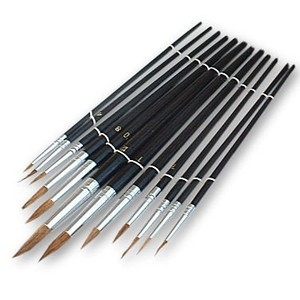 Am-Tech 12pc Round Artist Brushes