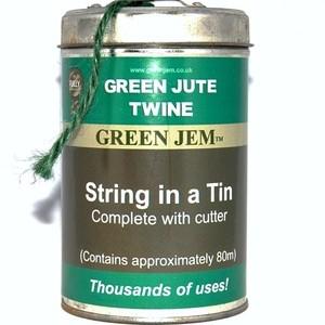 Green Jem String in a Tin