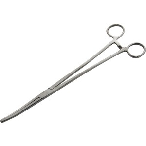 Am-Tech Stainless Steel Curved Forceps