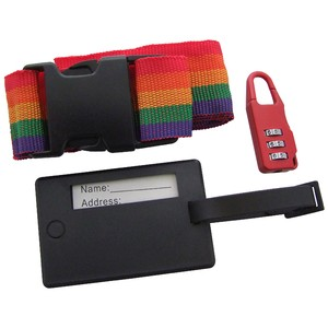 Am-Tech Luggage Strap - Label and Padlock