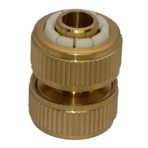 Green Jem Hose End - Brass Hose Repair Connector