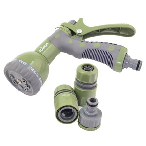 Rolson 8 Dial Garden Hose Gun with 3 Fittings