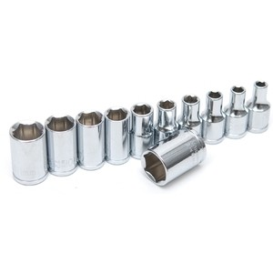 "Rolson 11pc 1/4"" Shallow Sockets"