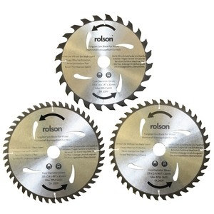 Rolson 3pc 235mm TCT Saw Blade Bore 30mm