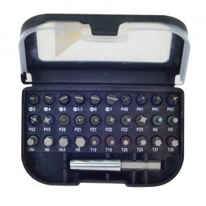 Rolson 31pc Screwdriver Bit Set Colour Coded