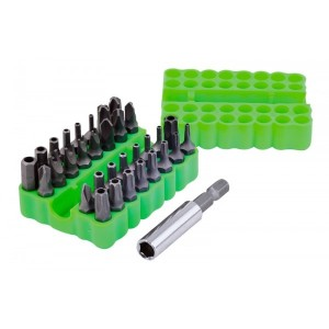 Rolson 33pc Security Bits & Holder
