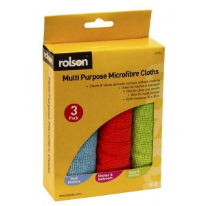 Rolson 3pc Microfibre Cloth Set