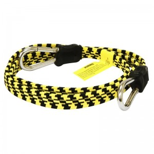 Rolson 1200mm Flat Elastic Bungee Cord with Carabiner Style Hooks