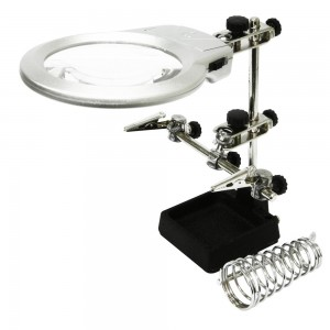 Rolson 2 LED Helping Hand Magnifier