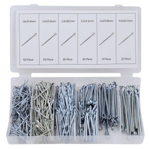 Rolson 500pc Cotter Split Pin Assortment
