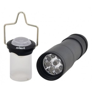 Rolson 9 LED Aluminium Lantern and Torch
