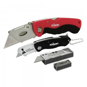 Rolson 2pc Knife Set With Spare Blades
