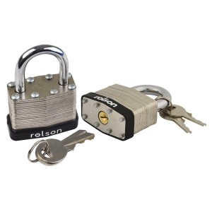 Rolson 2pc 40mm Laminated Padlocks Keyed Alike