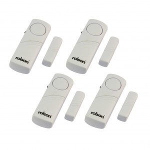 Rolson 4pc Wireless Door and Window Audible Alarm