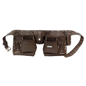 Rolson  Double Oil Tanned Leather Tool Pouch