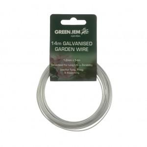 Green Jem 14m Galvanised Garden Wire