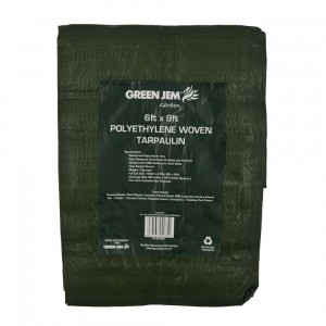 Green Jem Polyethylene Woven Tarpaulin 6' x 9'