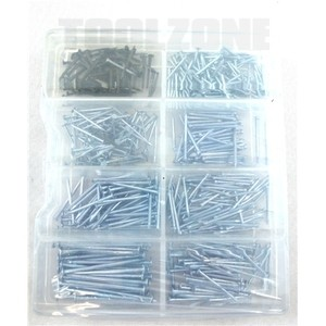 Toolzone 490pc Nail and Tack Assortment