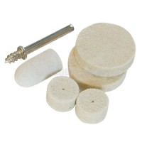 Silverline 5pc Felt Polishing Set