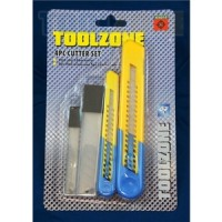 Toolzone 4pc Snap Off Blade Knife Cutter Set
