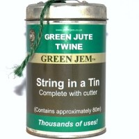 Green Jem String in a Tin
