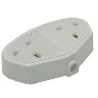 CED Double Rubber Extension Socket