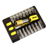 Rolson 14pc Power Bits & Quick Release Chuck Adaptor