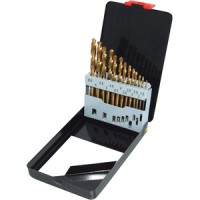 Toolzone 13pc Titanium Coated HSS Drill Bit Set