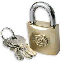 Tri-Circle 32mm Brass Padlock