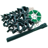 Am-Tech 61pc Garden Wire and Clip Set