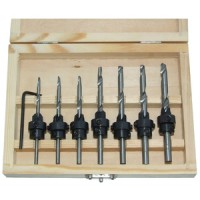 Am-Tech 22pc Tapered Drill and Countersink Bit Set