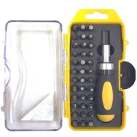 Rolson 38pc Stubby Ratchet Screwdriver and Bit Set