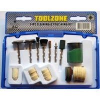 Toolzone 24pc Cleaning and Polishing Kit