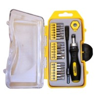 Rolson 21pc Precision Ratchet Screwdriver Set