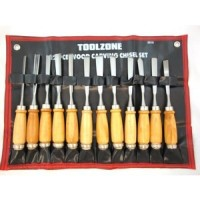 Toolzone 12pc Carving Chisel Set
