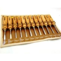 Toolzone 12pc Hi Quality Carving Chisel Set