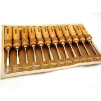Toolzone 12pc Hi Quality Carving Chisel Set