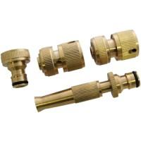 Green Blade 4pc Brass Hose Connector Set