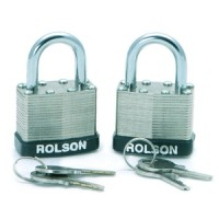 Rolson 2pc 50mm Laminated Padlocks Keyed Alike