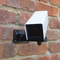 Am-Tech Dummy CCTV Security Camera with Flashing LED