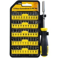 Rolson 51pc Screwdriver and Bit Set