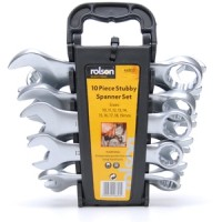 Rolson 10pc Stubby Combination Spanner Set