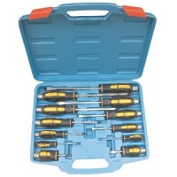 Blue Spot 12pc Mechanics Go Through Screwdriver Set