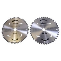 Rolson 2pc 300mm TCT Saw Blade Bore 30mm