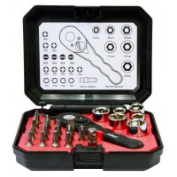 Rolson 24pc Ratchet & Bit Set